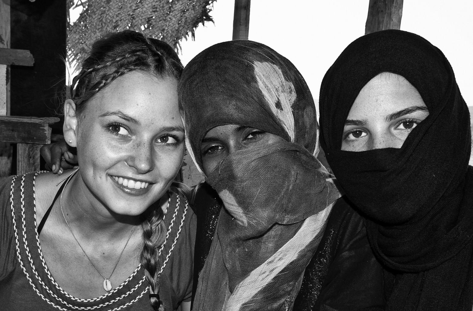 West meets East, Abu Ghusun Desert, Egypt