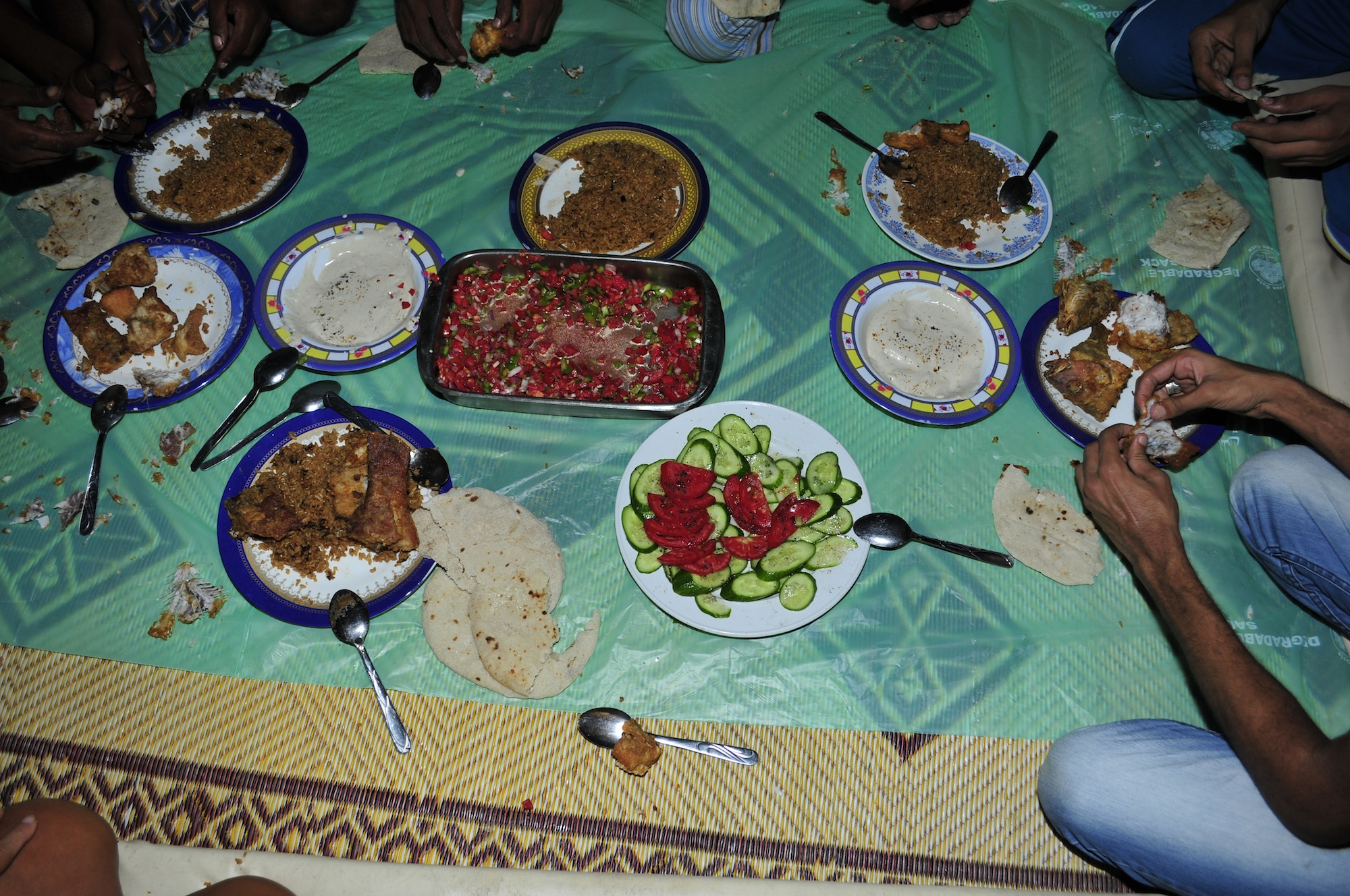 Home made Food on the Beach, Red Sea, Egypt