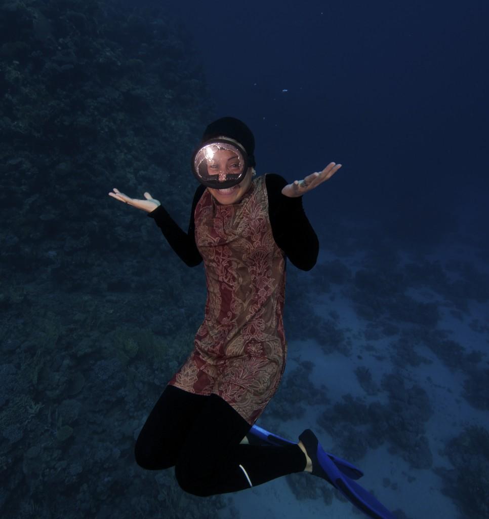 Religious Free Diver Girl, Egypt