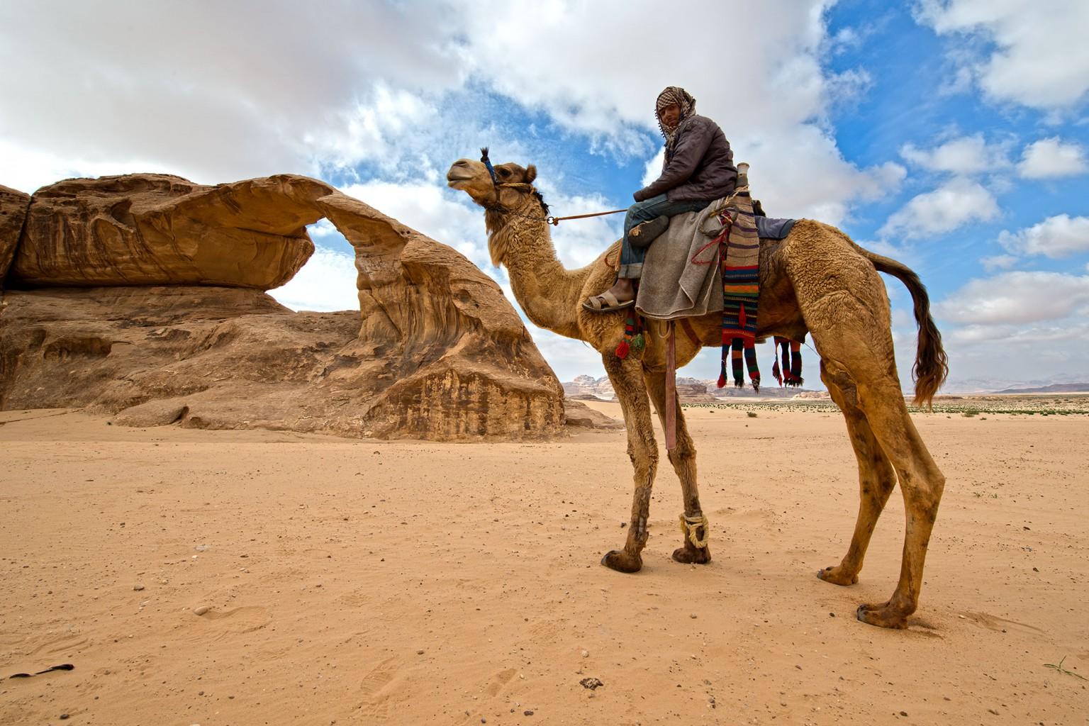 Wadi Rum Beduin at Sandstone Bridge