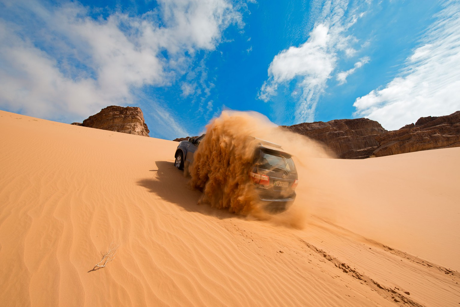 Wadi Rum 4 x 4 driving style