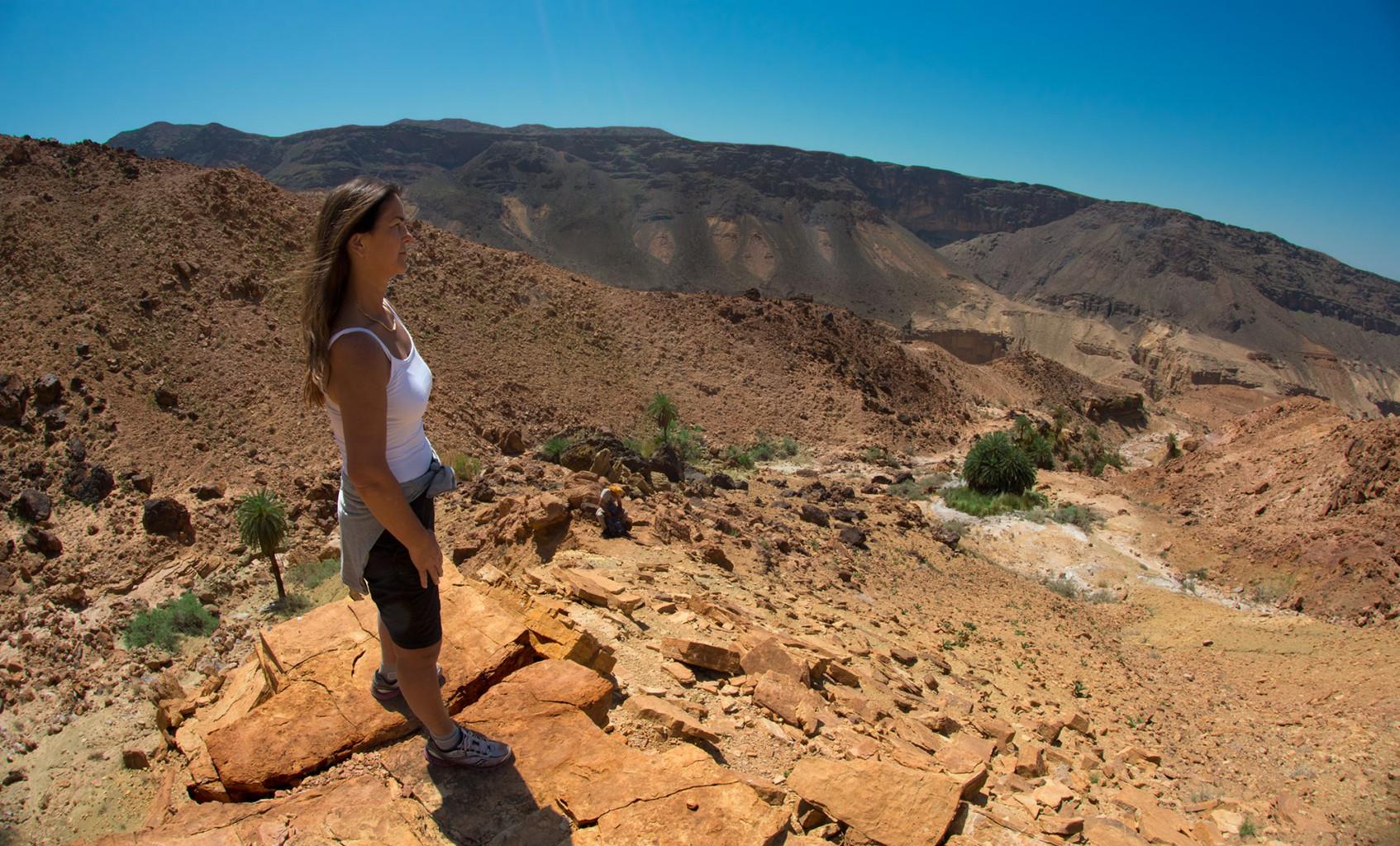 Not visible from high above, Wadi Zarka Maìn