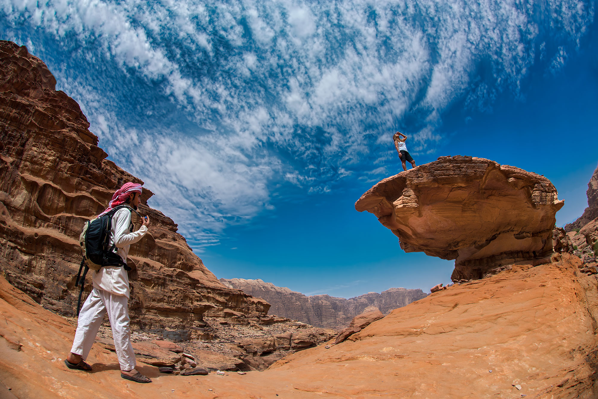 Wadi Rum`s spectacular Landscape