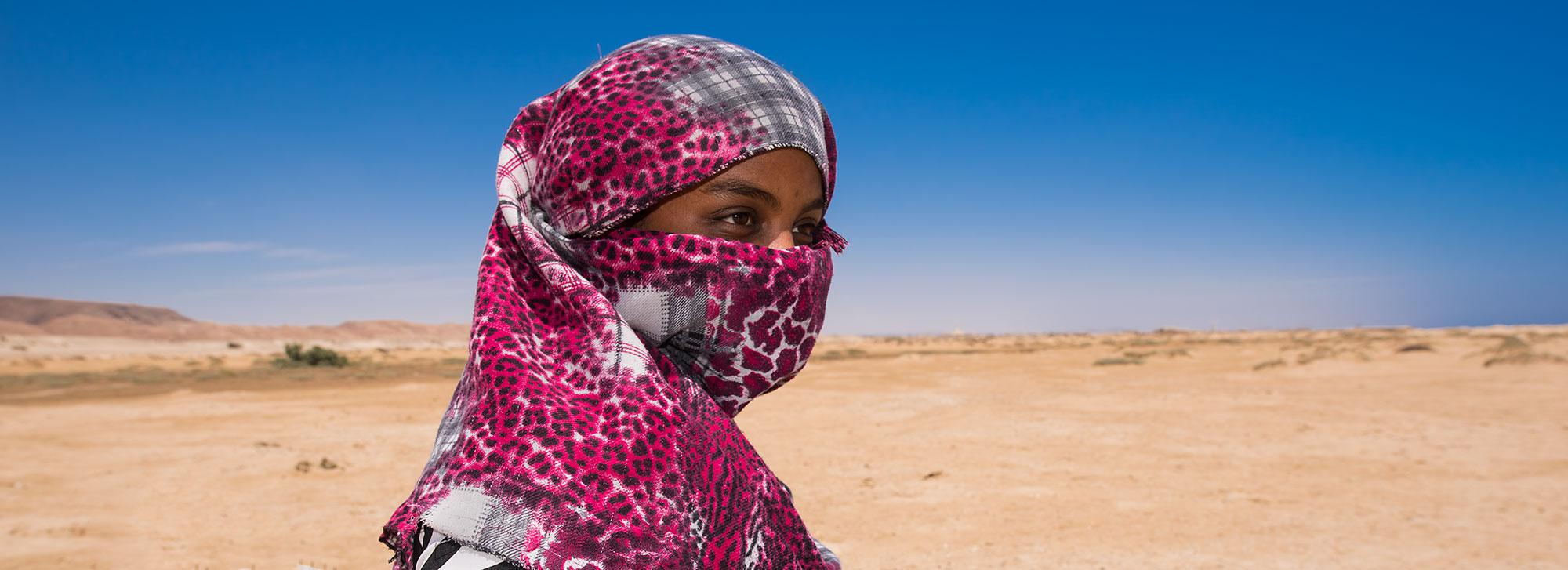 Egyptian Beduin Woman at ras Abu Ghusun, Red Sea
