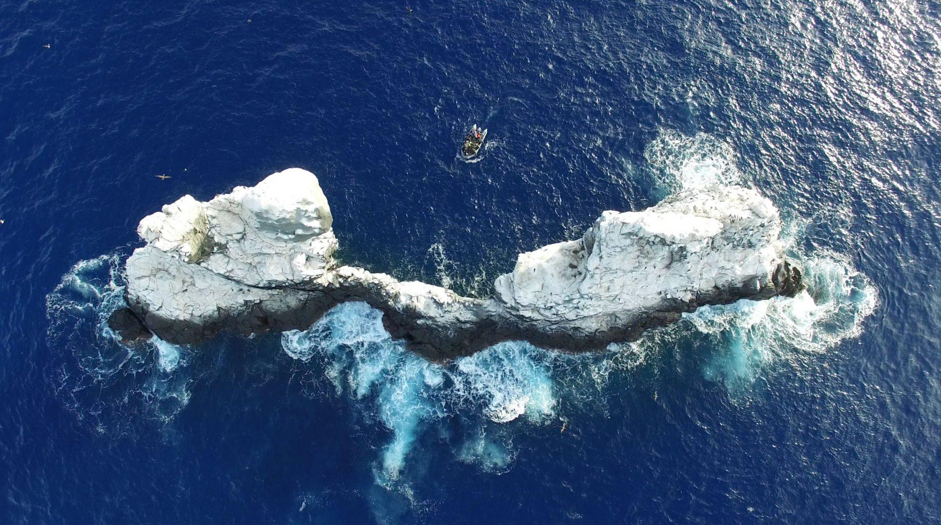 Aerial View, Roca Partida Revillagigedo ( Socorro ) Islands, Mexico