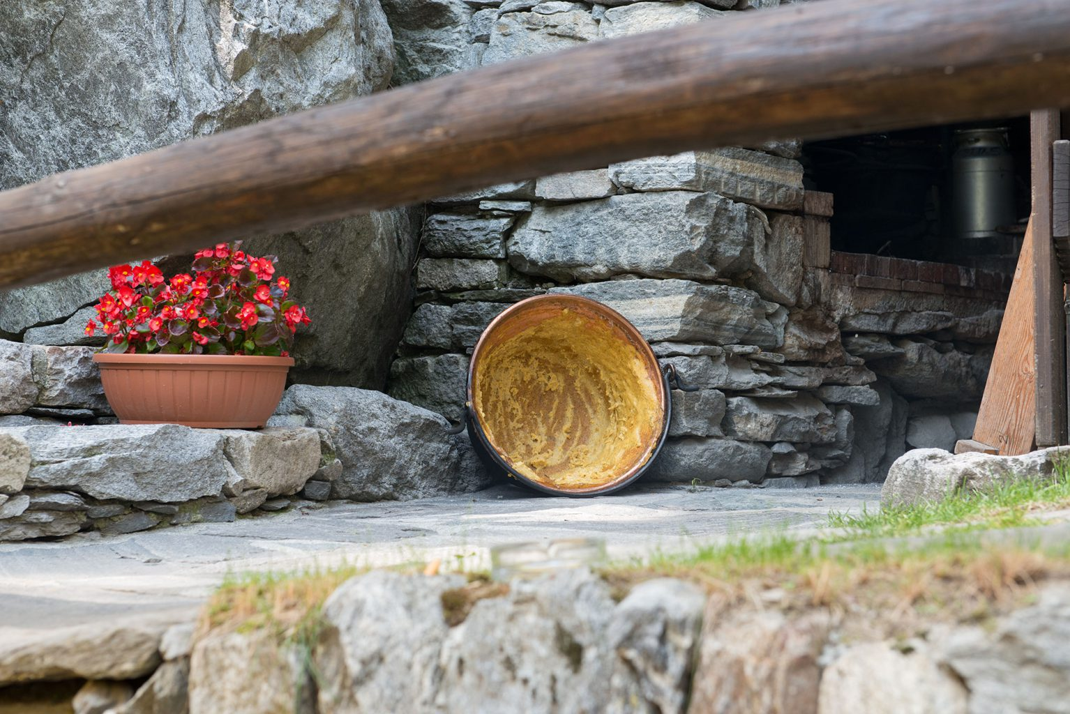 Polenta, Maggia Valley, Ticino Switzerland