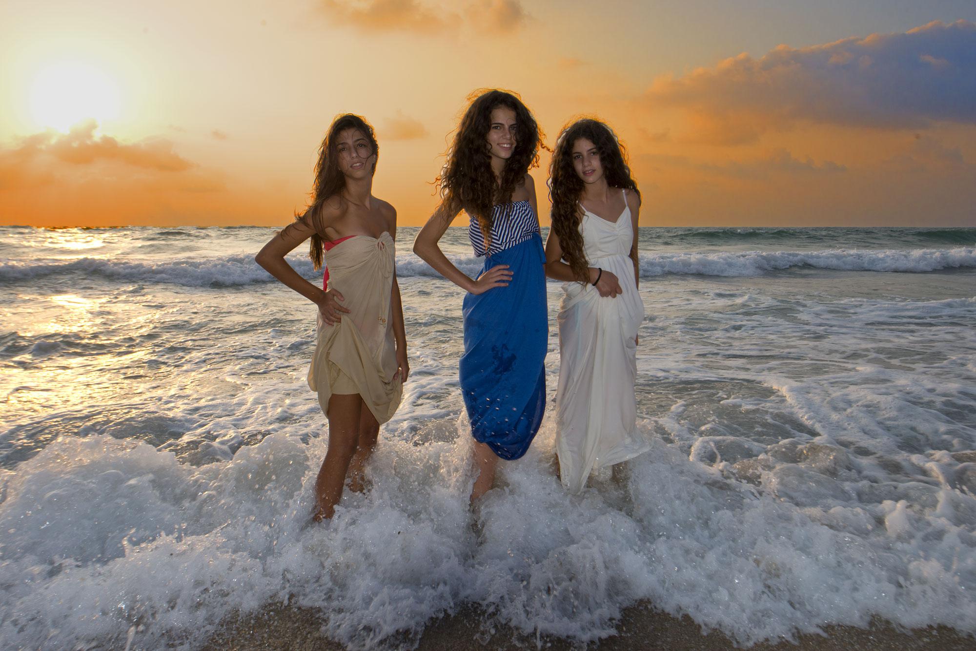 Yuval, Amit & Rotem, Ashkelon Beach, Israel