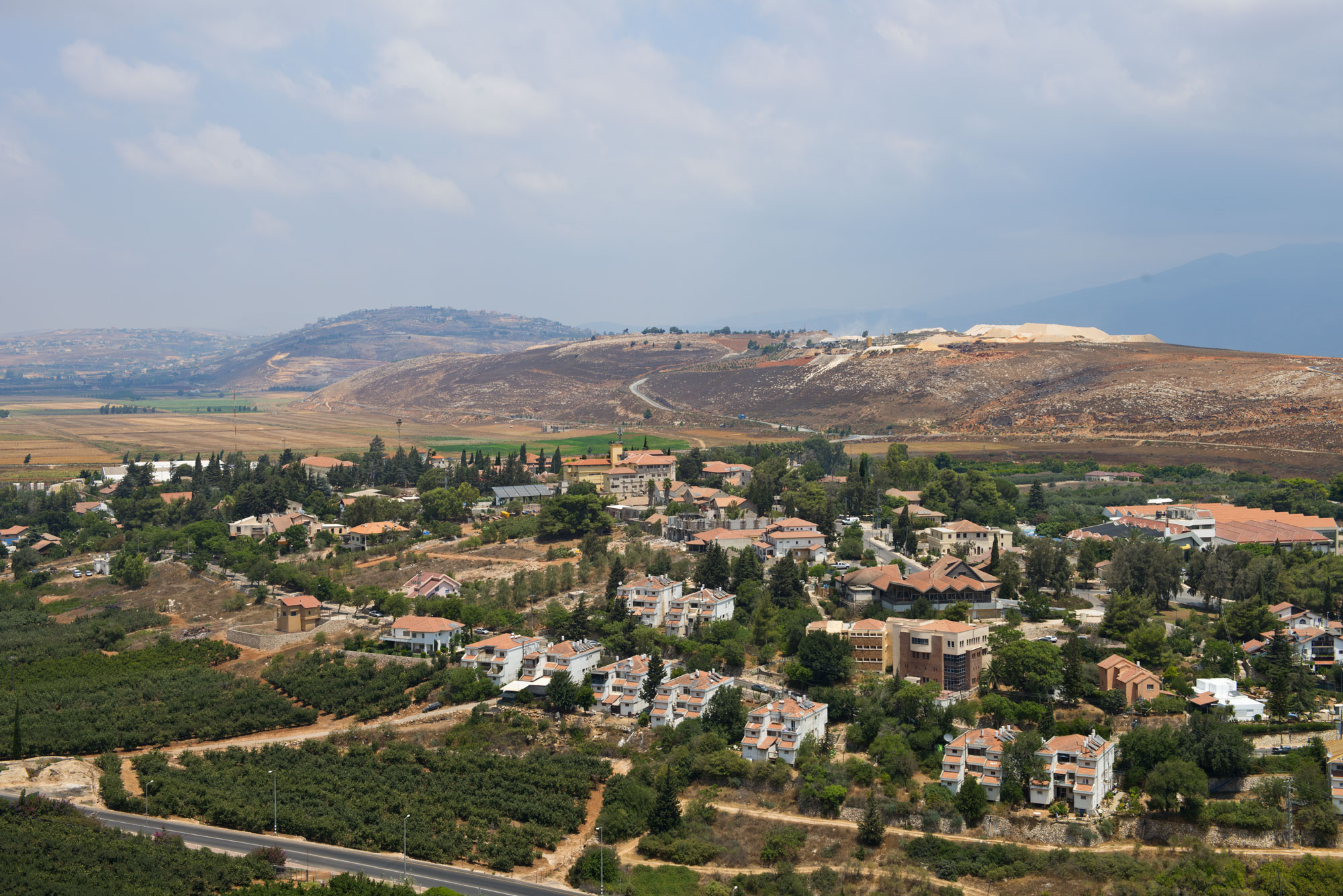 A view in to Lebanon from Northern Israel