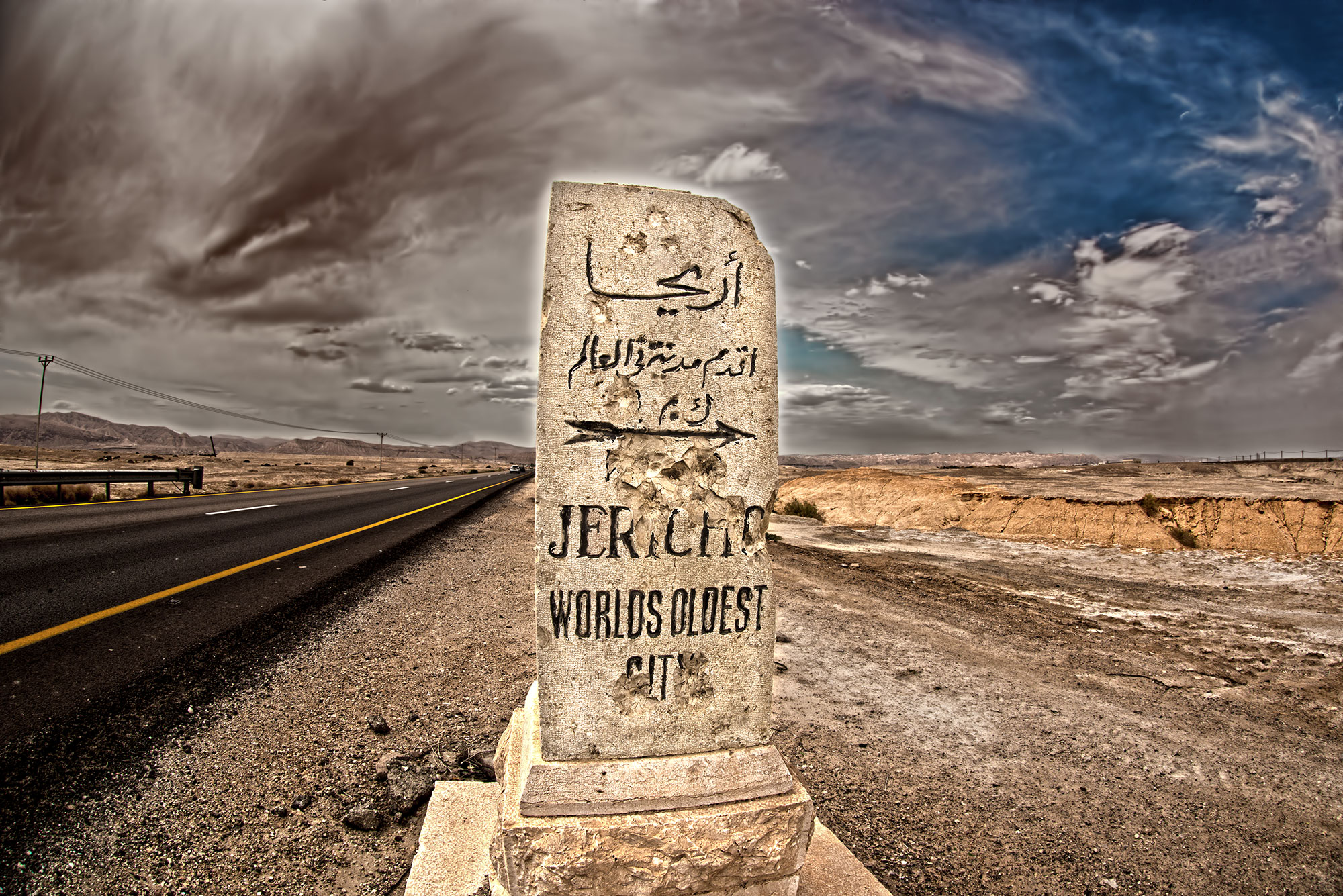 Ancient Road Marker, Jericho, Israel