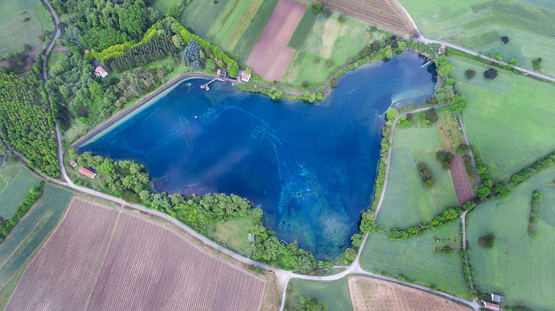 Lago Capo D`Aqua, Capestrano, Italy