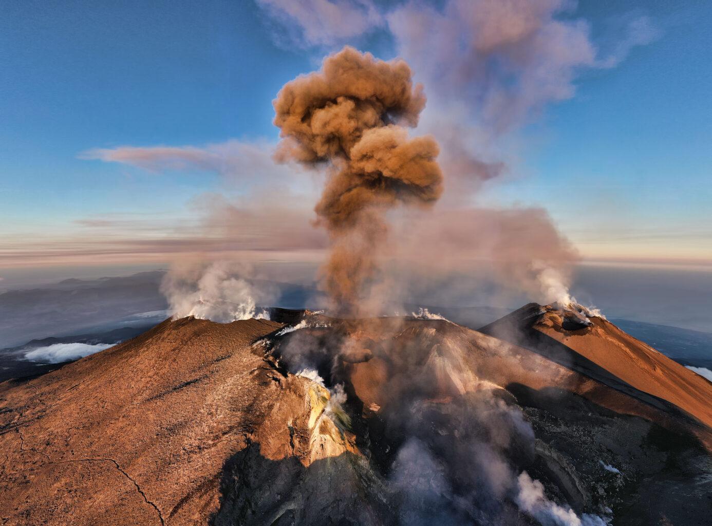 Monte Etna Volcano, Sicilia-Italia. Mount Etna Volcano, Sicily-Italy