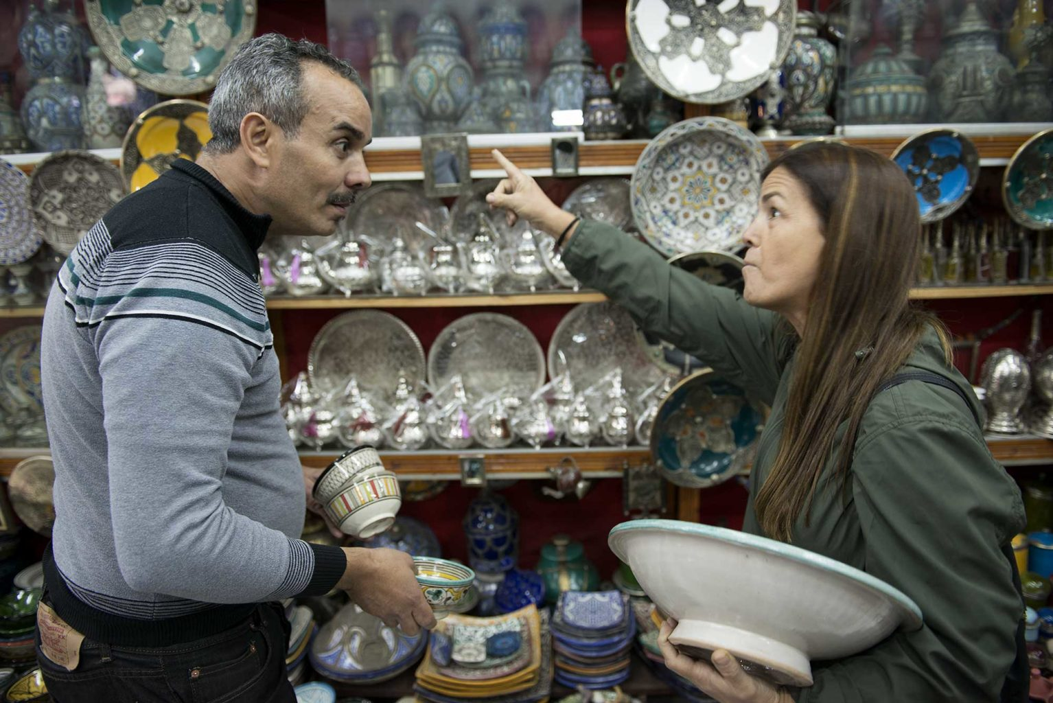 Arguing before buying is necessary in Morocco