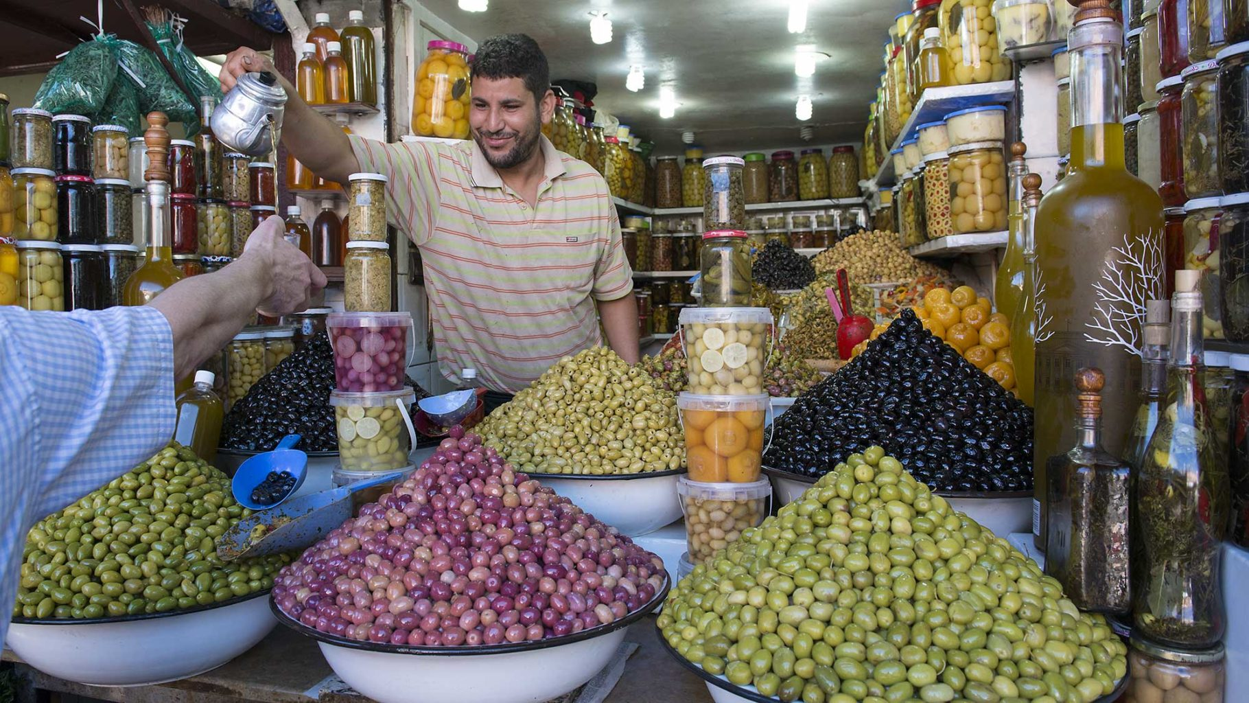 Olives for sale in Morocco