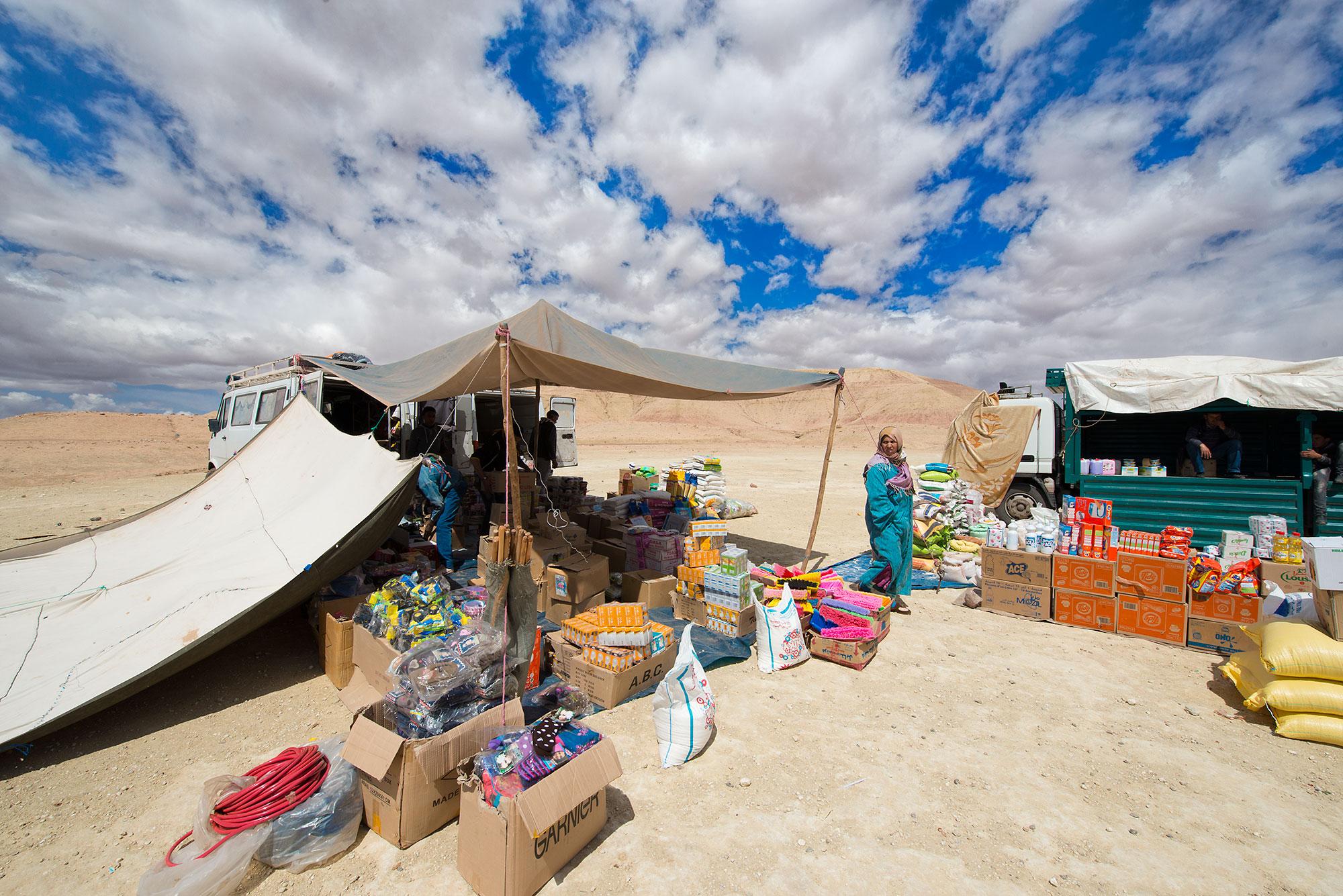Street Market south of the Atlas Mountains Morocco