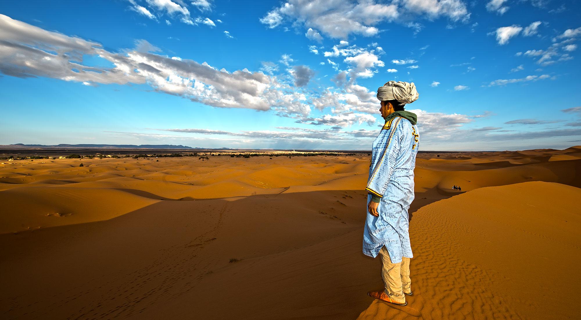 Berber Man Sahara Desert Morocco
