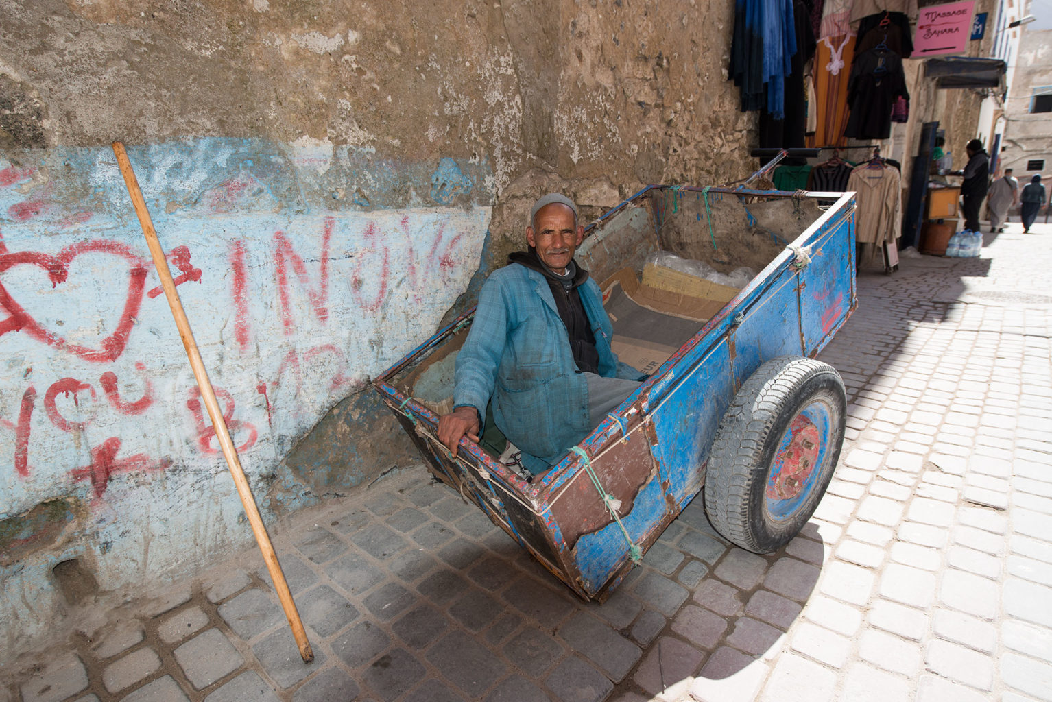 Waiting for work in the souk Morocco
