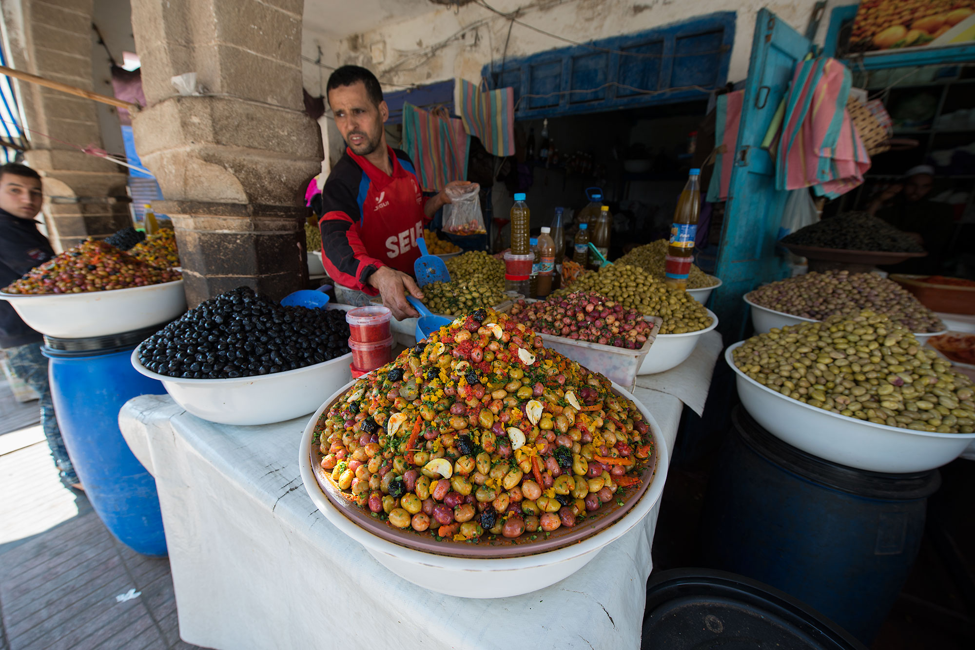 Olive sale in the Market Morocco