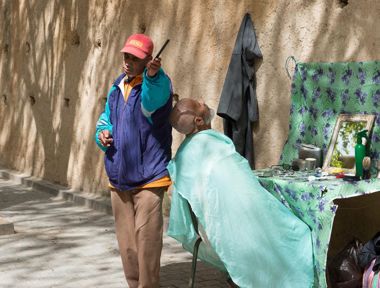 Street Barber Marrakech Morocco