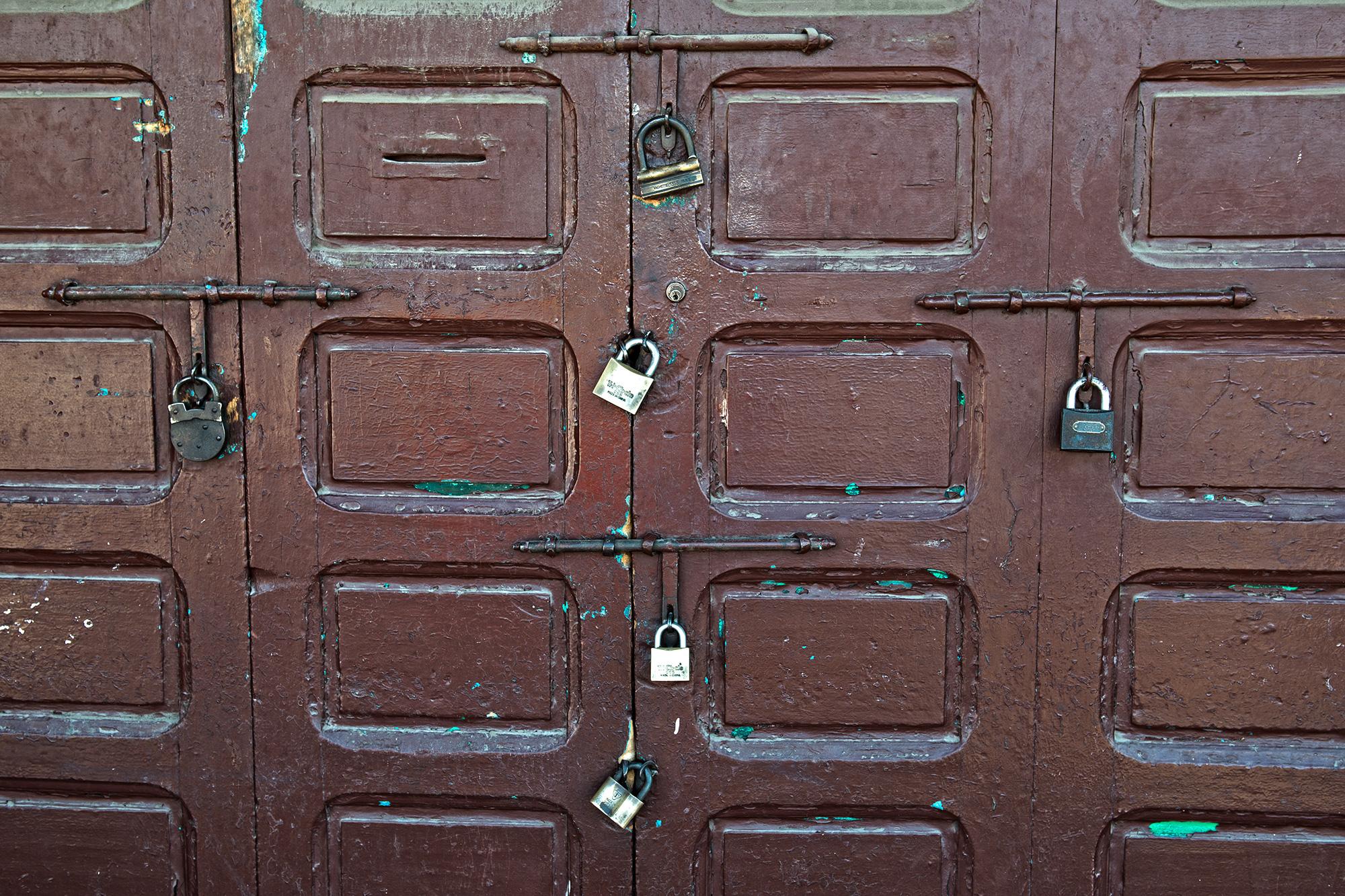 Loked Door Marrakech Morocco