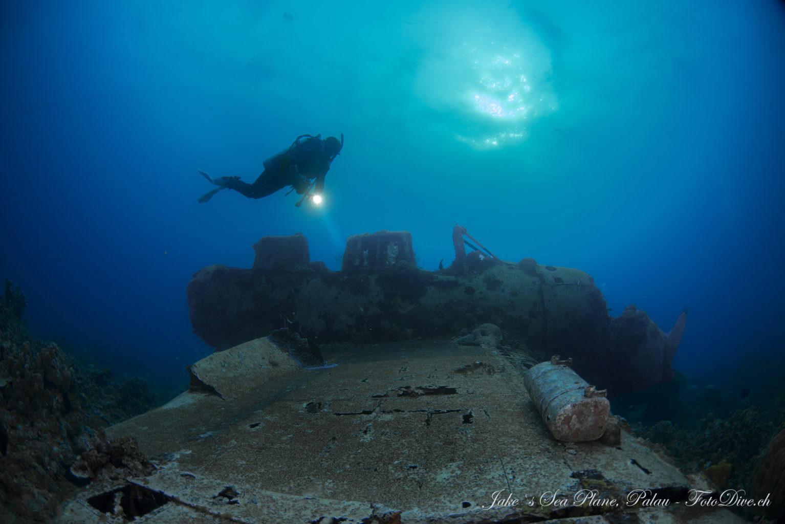 Jake`s Sea Plane, Japanese War Plane Wreck Palau