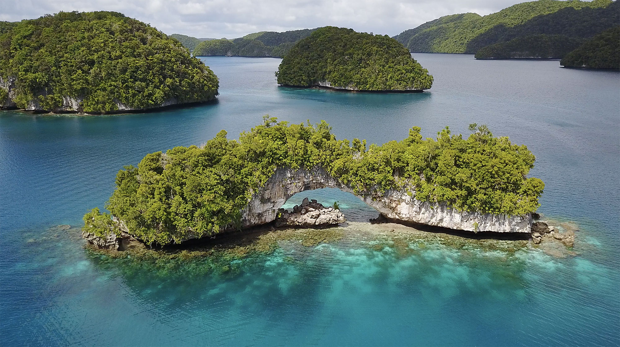 The Arch in the Rock Islands Palau