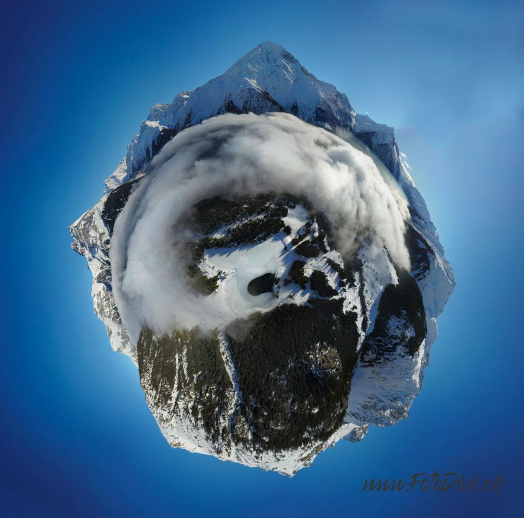 360 Photography, Frozen Lake Arnise, Canton Uri - Switzerland